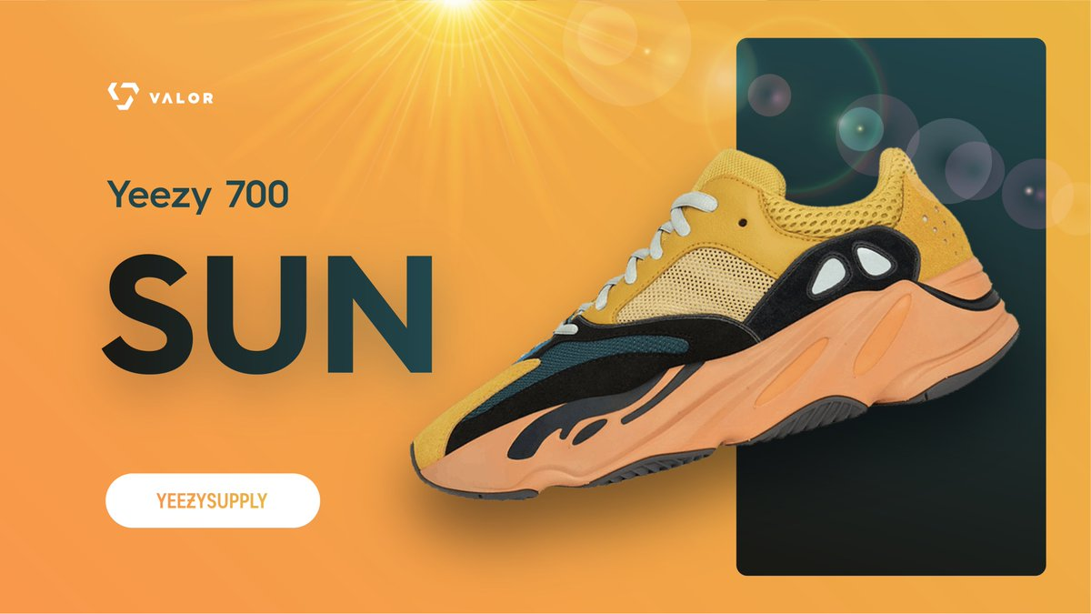 Valor feast on Yeezy Supply. ✅  It's been a sunny day with hundreds of checkouts on the Yeezy 700 release.  ⛱️  Retweet & Reply with a ☀️ and we'll DM some of you with a key. 📬