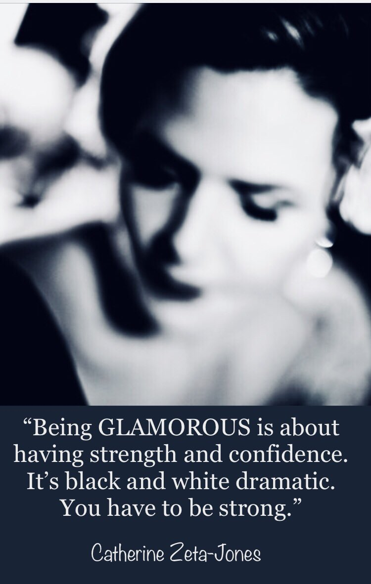"""""""Being GLAMOROUS is about having strength and confidence. It's black and white dramatic. You have to be strong."""" C Z-Jones #SaturdayMorning #Motivation #MotivationalMomentsDMV #MotivationalDMV #beauty #MotivationalQuotes"""