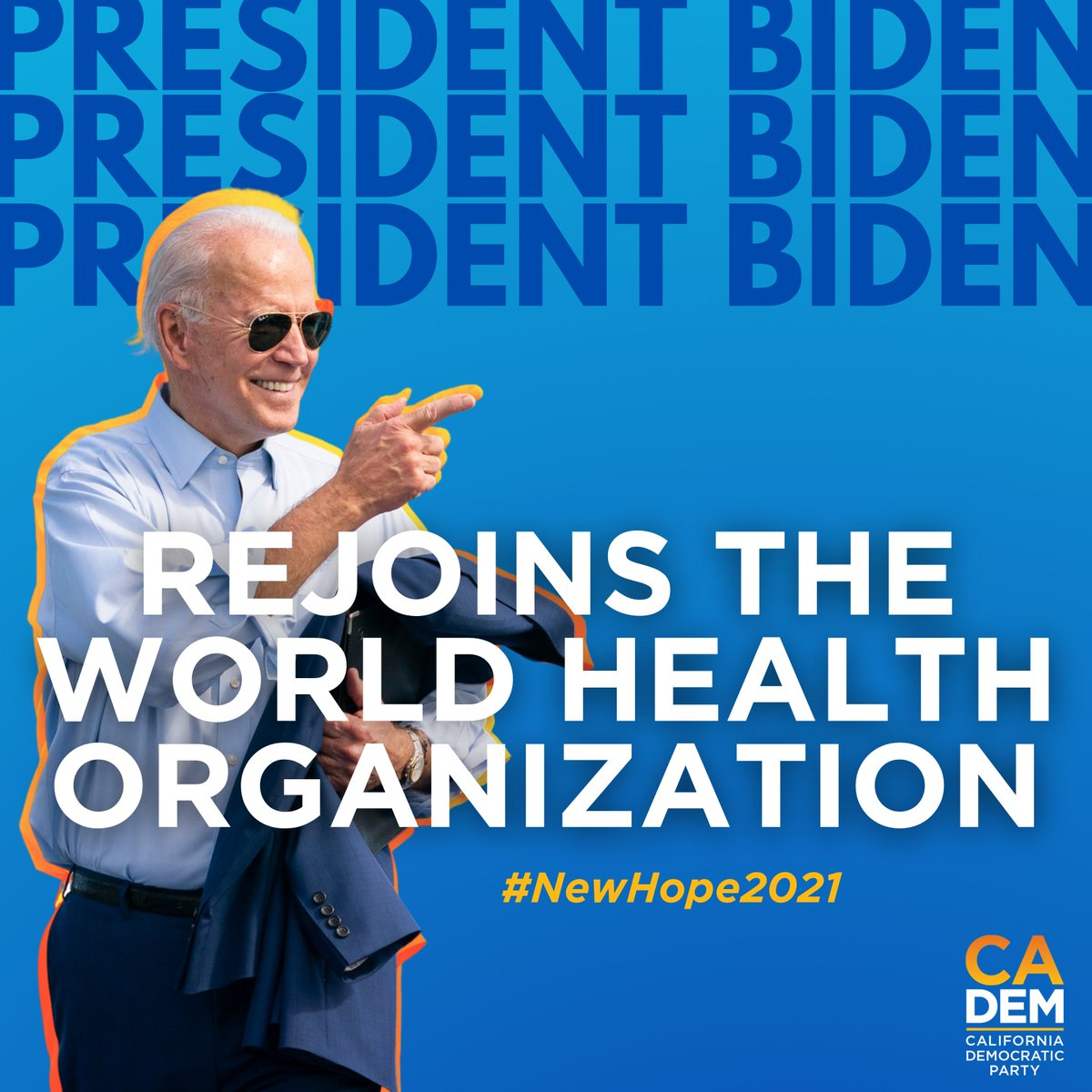 #ScienceisBack President Biden rejoins the World Health Organization: Bringing the United States back onto the global health stage!