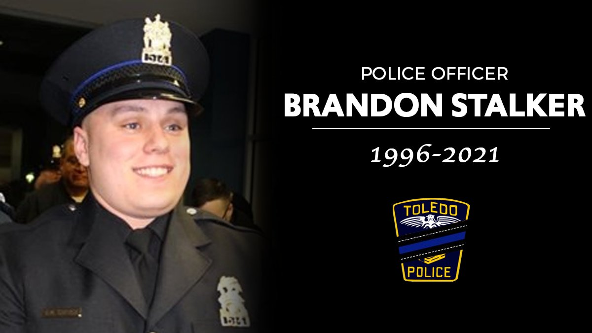 Earlier this week, @ToledoPolice Officer Brandon Stalker was shot and killed in the line of duty.   Officer Stalker - who was only 24 years old - leaves behind a fiancée and two young children. Jane and I offer our deepest condolences to his family, friends & brothers in blue.