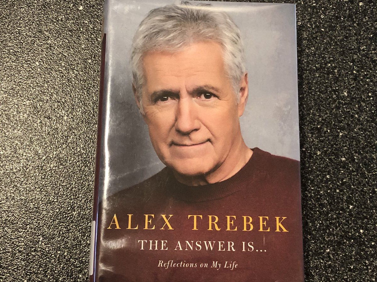 #Book 4 of 2021: Who is #AlexTrebek? Written in the style of @Jeopardy this was an insight into the TV show host's life and career. #read #reading