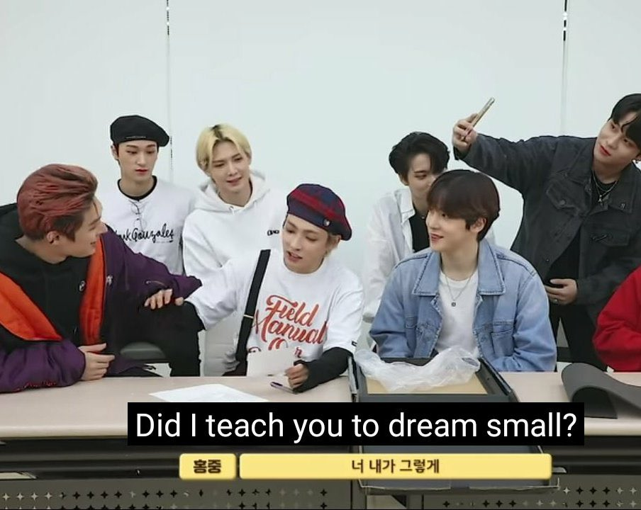 it's the last and hongjoong would like to remind you: