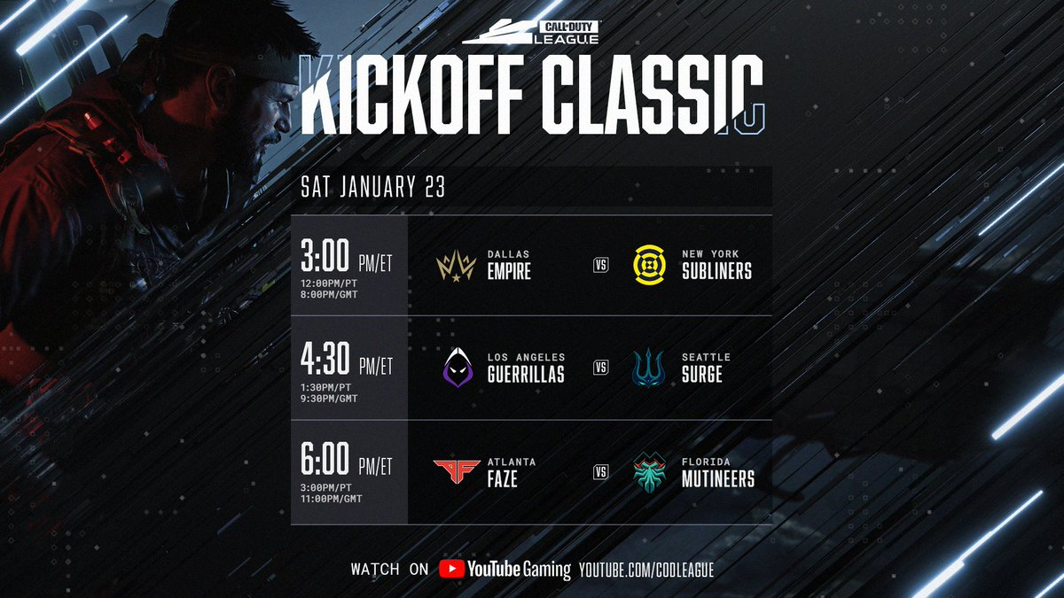 Day 1 of the #CDL2021 Kick Off Classic Event is live!   Tune in:
