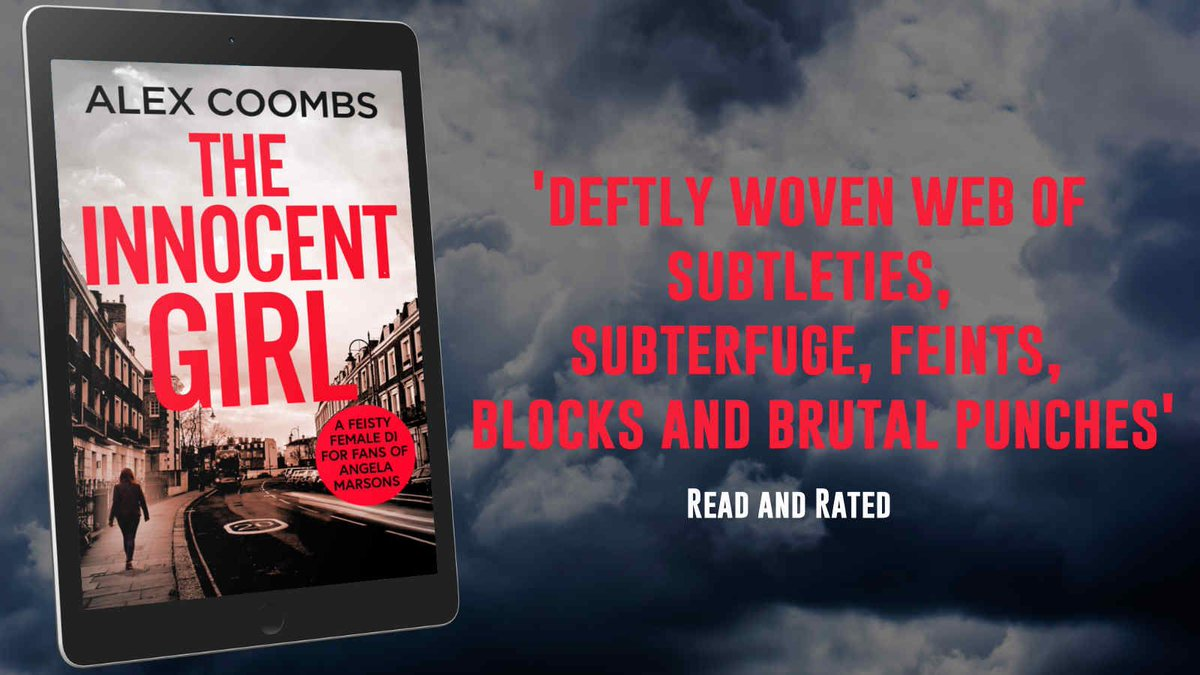 """deftly woven web of subtleties, subterfuge, feints, blocks and brutal punches"" says @CoffeeCurls about The Innocent Girl by @AlexHowardCrime     DI Hanlon Series is available now ➡️"