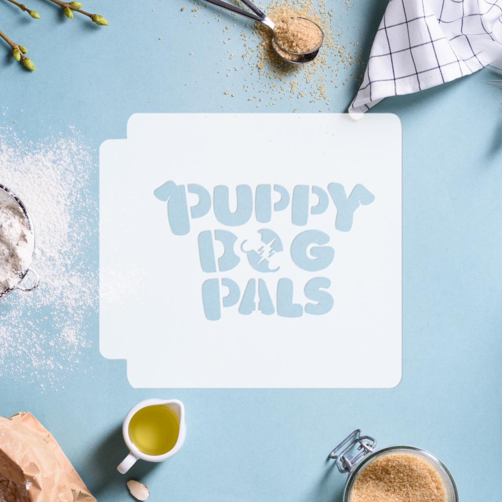 Puppy Dog Pals Logo 783-C400 Stencil now available!  #cake #spraypaint #decorations #diy #homemade #handmade #bakingsupplies #instadaily #instafood #igdaily #jbcutoutoflove #stencils #stencil #customize