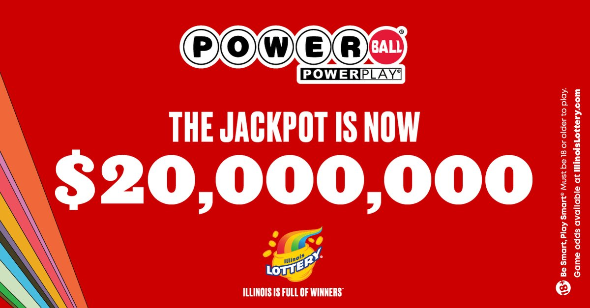 The Powerball® jackpot is $20,000,000! There is still time to get your ticket for tonight's draw at 9:59 pm. Buy your ticket through the Illinois Lottery app or online now.  https://t.co/DxWW3CI3LI https://t.co/Vp0iNWbJi5
