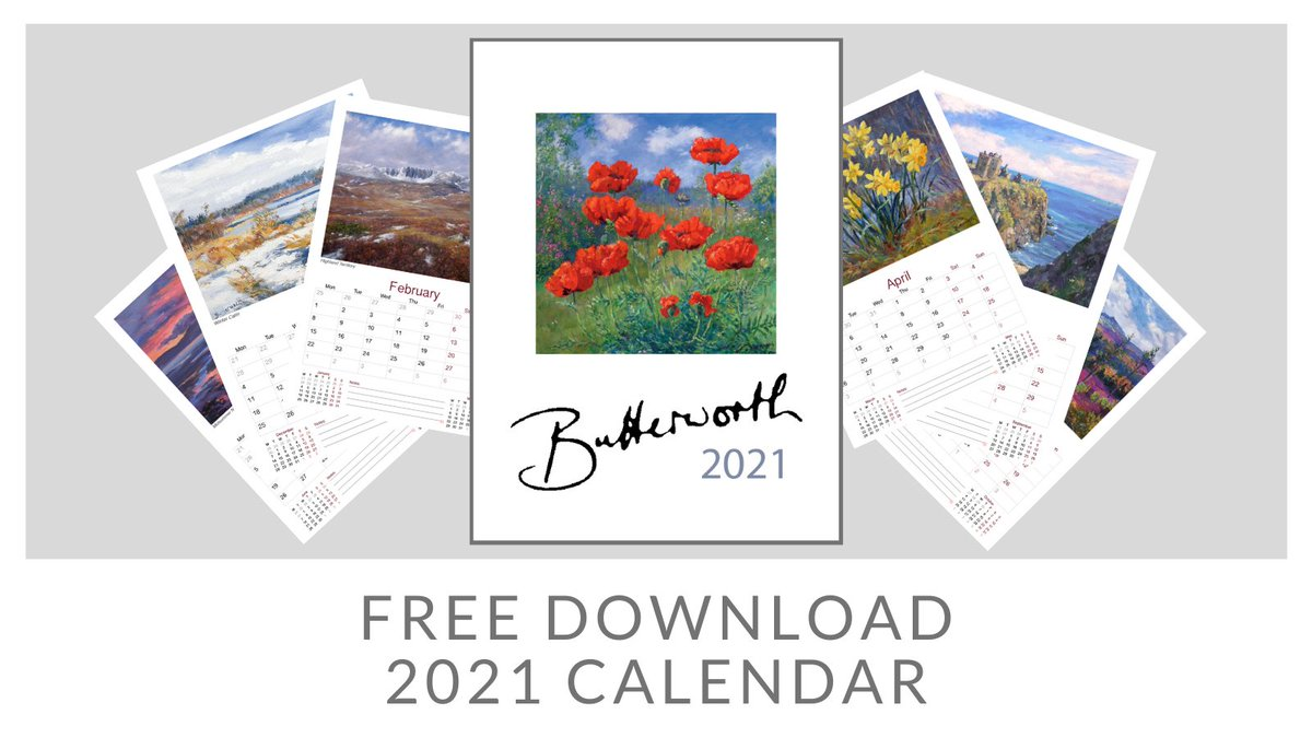 Here's a wee boost for those who missed their chance to get a copy of our sold out 2021 calendar. A4 with 12 pages of Scottish Fine Art. Find out more at  #art #SaturdayVibes #Scotland #calendar2021 #blog #ArtistOnTwitter #Scottish #fineart #Online #gallery