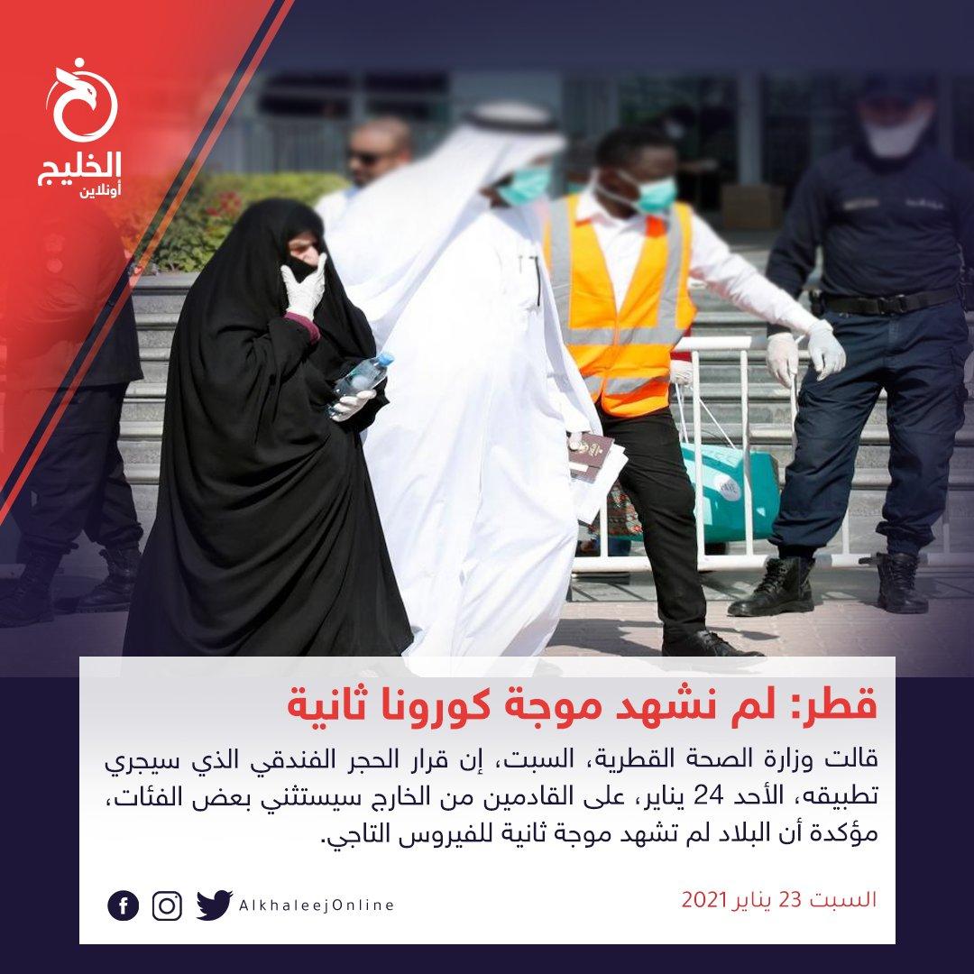 #قطر: لم نشهد موجة #كورونا ثانية.. وفئات معفية من الحجر    | #الخليج_أونلاين #نبض_الخليج