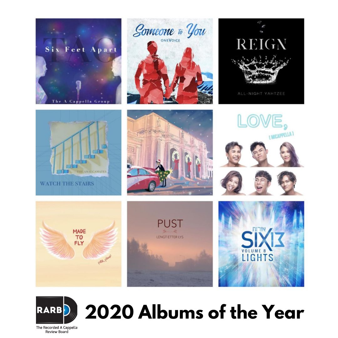 Thank you @rarborg for selecting Holidays with The #CapitalHearings as a 2020 #AlbumoftheYear & #AuldLangSyne as a 2020 Track of the Year!   Listen to our critically-acclaimed album:    #newmusic #acappella #dcarts