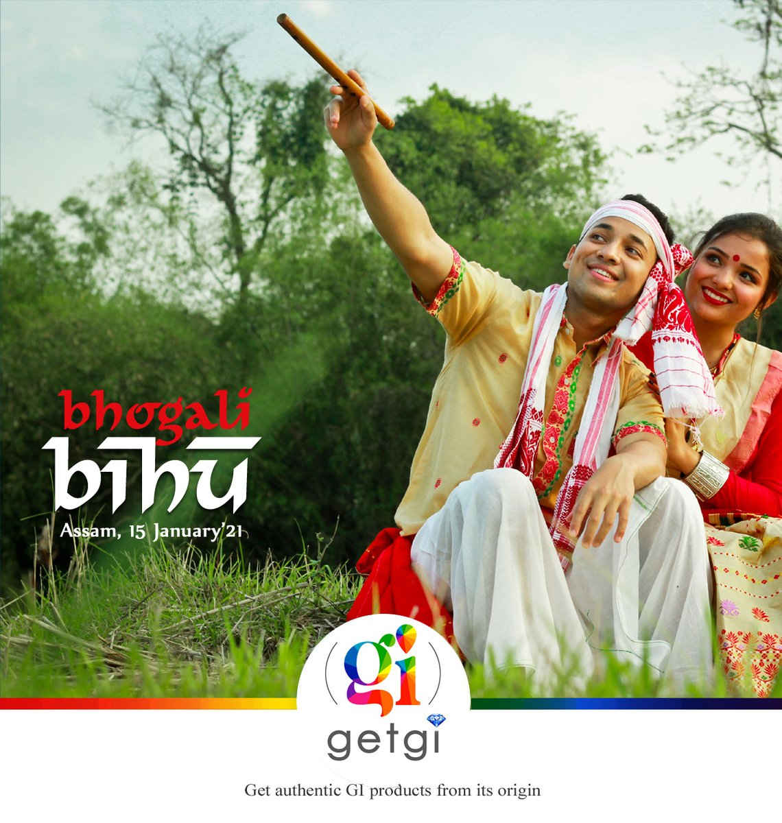 #BhogaliBihu #Assam has three festivals connected to the paddy crop. Magh Bihu or Bhogali Bihu is the most important festival in Assam when people celebrate the paddy harvest with music, dances, and feasting.  #getgionline #getgi_online  #getgi #festivalseason #Bihu #bihu2021