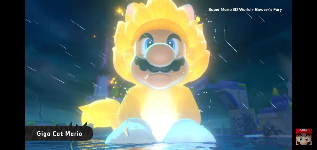 Any one else notice that this dude mario literally went super saiyan when he turned into that giant cat?? #SuperMario3DWorld #supersaiyan