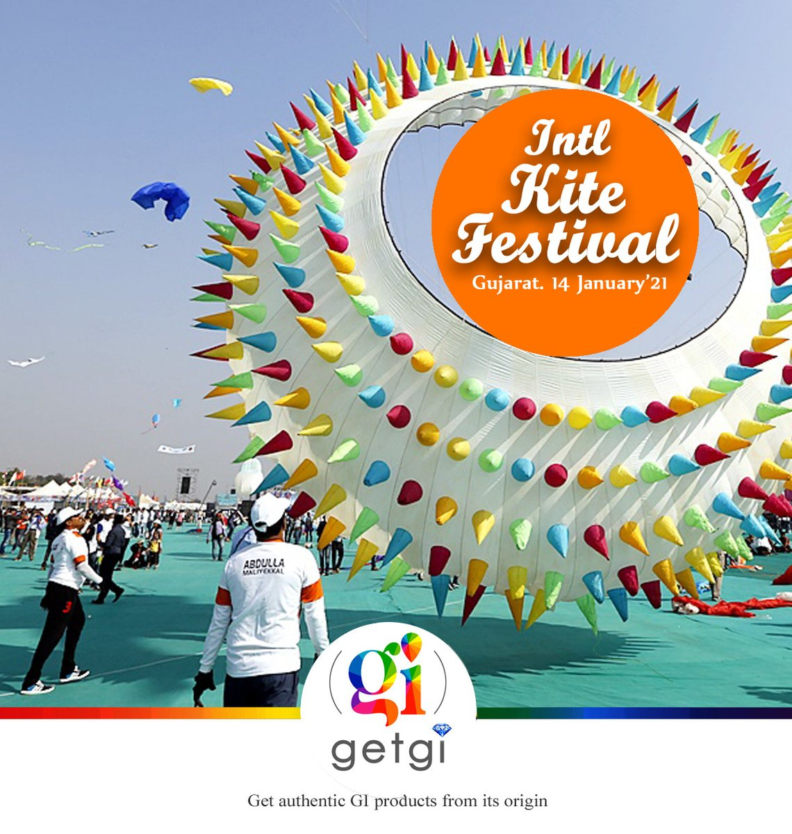 #internationalkitefestival Makar Sankranti is one of the most auspicious days of the year and it is celebrated in Gujarat as a magnificent Kite festival that happens every year with the utmost celebration. #getgi #kitefestival #intlkitefest  #uttarayan #uttarayan2021