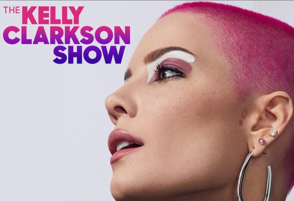 Halsey will be on The Kelly Clarkson Show Wednesday 27 January 🦋   #halsey #aboutface #thekellyclarksonshow #CelebratingAmerica #BetterTogether @halsey @KellyClarksonTV
