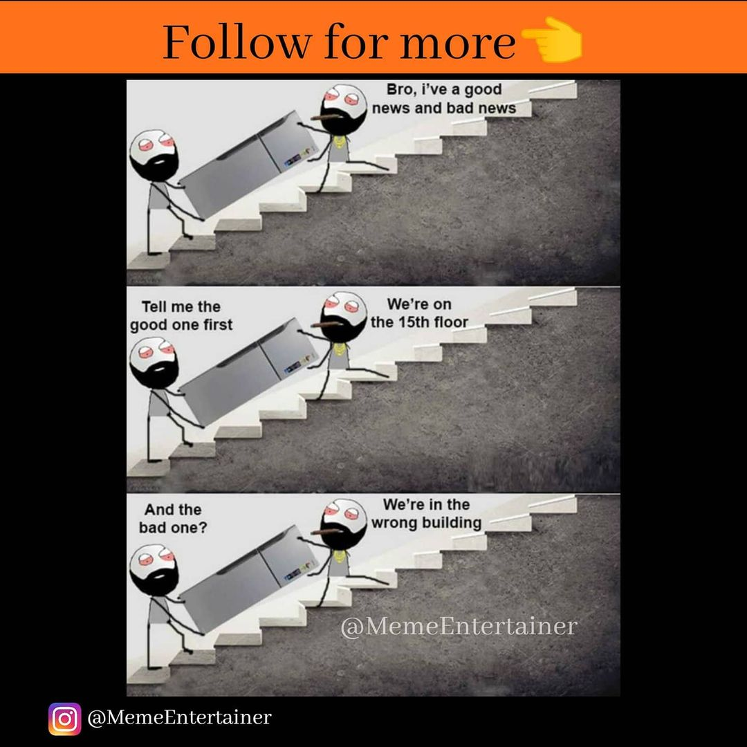 Good news / Bad news 😂 Follow for more 👈 #meme #memes #funny #dankmemes #memesdaily #foryoupage #explorepage #follow #trythisathome #like #dank #trythis #instagram #memepage #dankmeme #factss #englishquestions #questionsanswers #fun  #questionsandanswers Follow if you like ❤