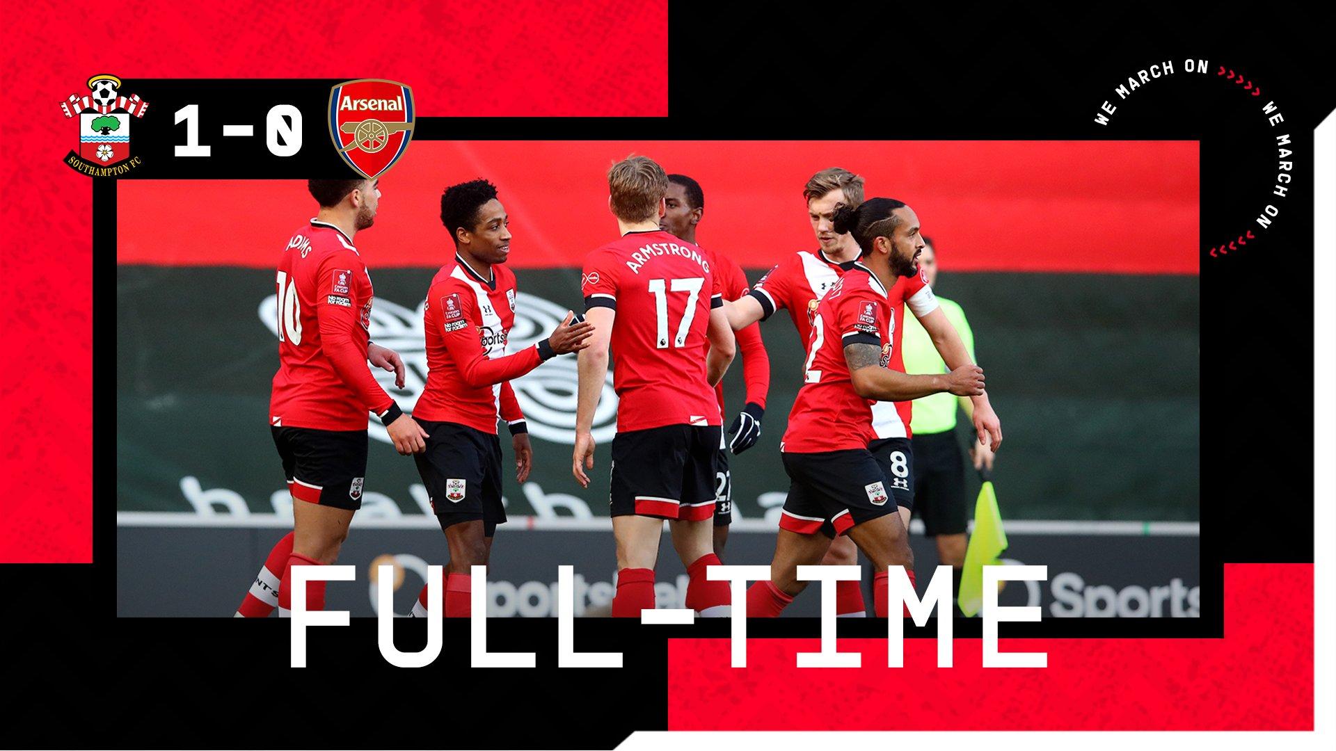 Full-time: Southampton 1-0 Arsenal