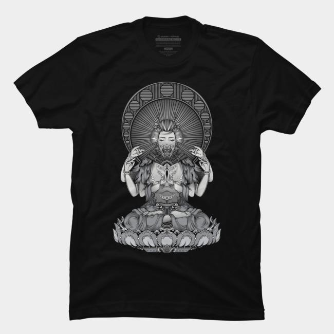 Geisha (Buddha Style) @designbyhumans by @Boby_Berto  #geisha #buddha #style #bw #woman #art #design #tshirt #illustration #inspirational #tshirts #tshirtdesign