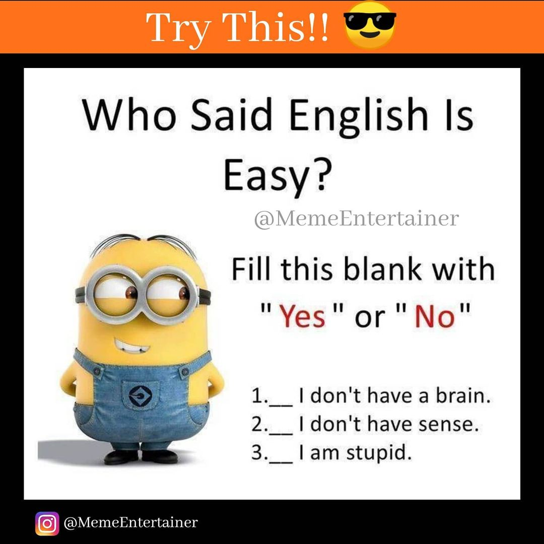 Try This!! 😎Challenge for you  Share with friends 😎 #meme #memes #funny #dankmemes #memesdaily #foryoupage #explorepage #follow #trythisathome #like #dank #trythis #instagram #memepage #dankmeme #factss #englishquestions #memeentertainer  #QuizTime Follow if you like ❤