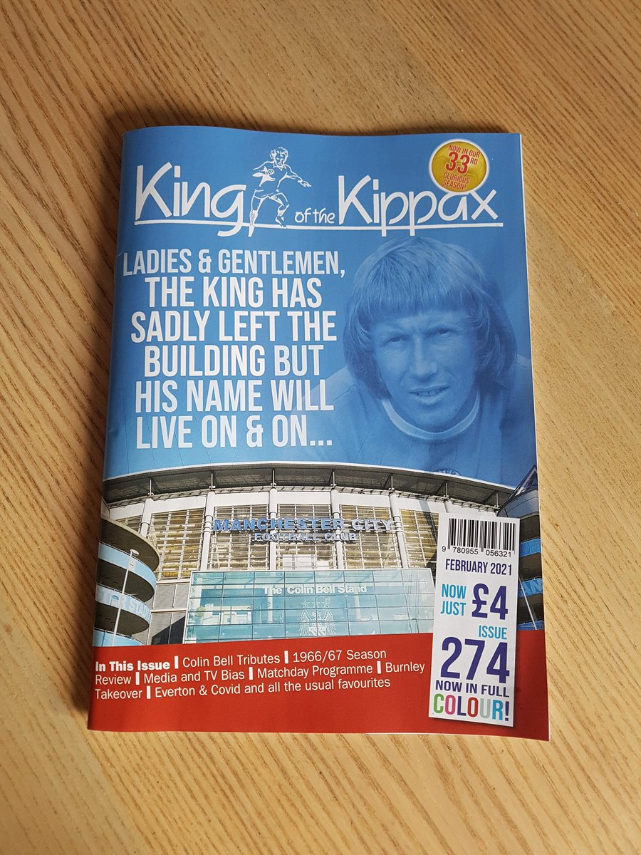 The latest @KingKippax has just come through the post. A Colin Bell tribute issue; it's full of wonderful, heartfelt, moving articles. A pleasure to contribute to 💙 https://t.co/FOn4caiB9d
