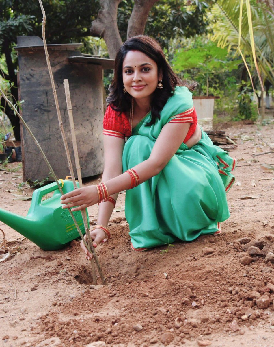 I've accepted #HaraHaiTohBharaHai #GreenindiaChallenge  Inspiration from @MPsantoshtrs Planted 3 saplings. Further I am nominating @PrasanthVarma @aishu_dil @actor_Nikhil  to plant 3 trees & continue the chain special thanks to MP Santhosh garu for taking this intiate.