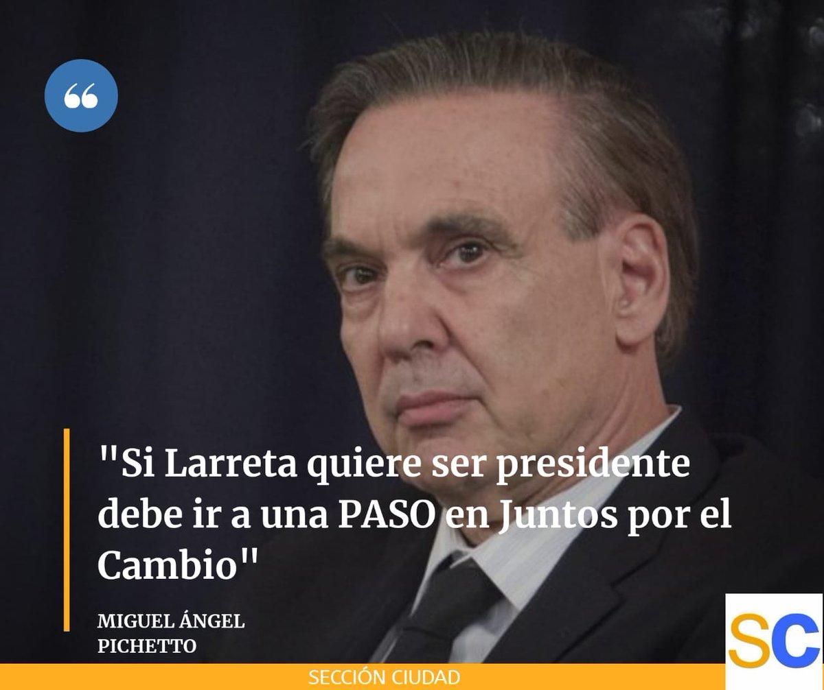 Miguel Ángel Pichetto le puso condiciones a la aspiración presidencial de Horacio Rodríguez Larreta https://t.co/HAK1S8qgnD https://t.co/o3u3odwQ6d