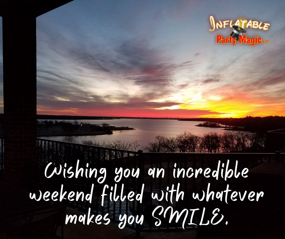 😀Happy Weekend Everyone!😊Make a conscious effort to do something that makes you smile this weekend!😆    #bouncehouserentalcleburnetx #txpartyrentals #cleburnetx #midlothiantx #granburytx #arlingtontx #saturdayvibes