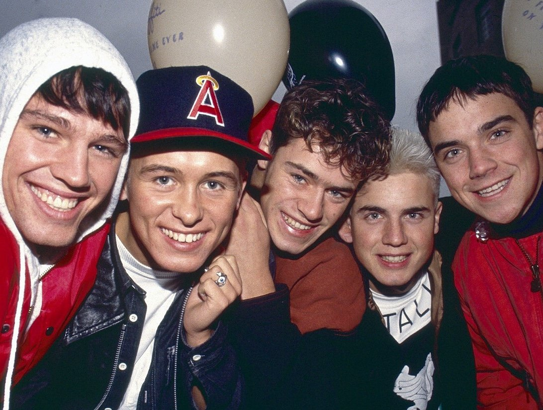 Aren't they a good looking bunch 🤪 I've heard they have wrote and sung some phenomenal songs 🎶😊  ---------- @GaryBarlow @OfficialMarkO @HowardDonald @robbiewilliams #jasonorange #thatters 🤩 Photo Credited to the owners 📸 @takethat #saturdayvibes #lookatus #thosewerethedays