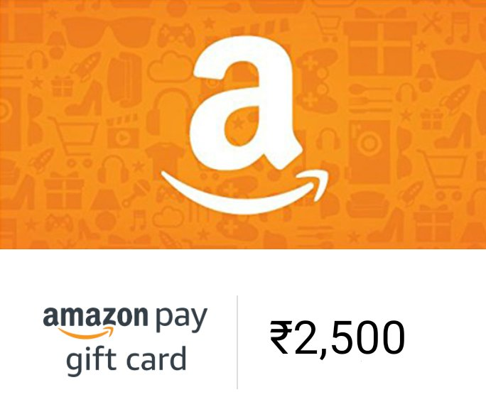 mega #GiveawayAlert  We're giving away Amazon gift cards worth ₹2,500  1)FOLLOW @Mysterydealz 2)Retweet ♻️ 2)Tag your friends  We'll pick 5 random followers & each will get a gift card worth ₹500.  Winners will be declared after completing 2500 followers.