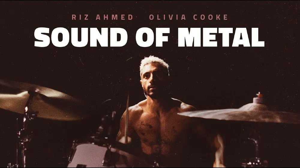 Sound of Metal is a beautiful, intense, riveting film, about a recovering addict drummer who loses his hearing. An astounding performance by Riz Ahmed offers commentary on deafness as identity not disability. A stunning soundscape offers insight into silence.  #SoundOfMetal