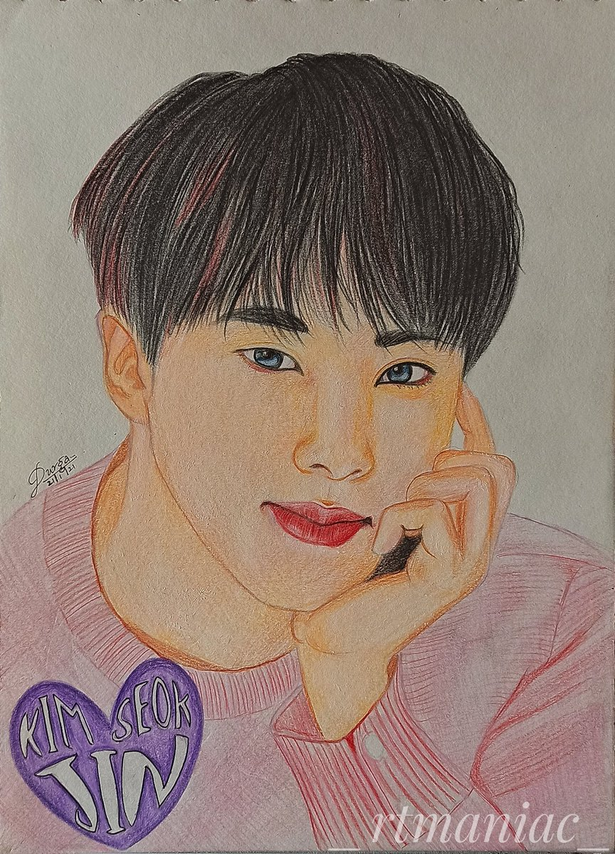 @bts_bighit Drawing our world wide handsome Jin  Please do check out my YouTube Channel to see how it's made!! Do support 💜 #BTSJIN #BTS #youtubechannel #YouTube #BTSArmy #jin #SEOKJIN