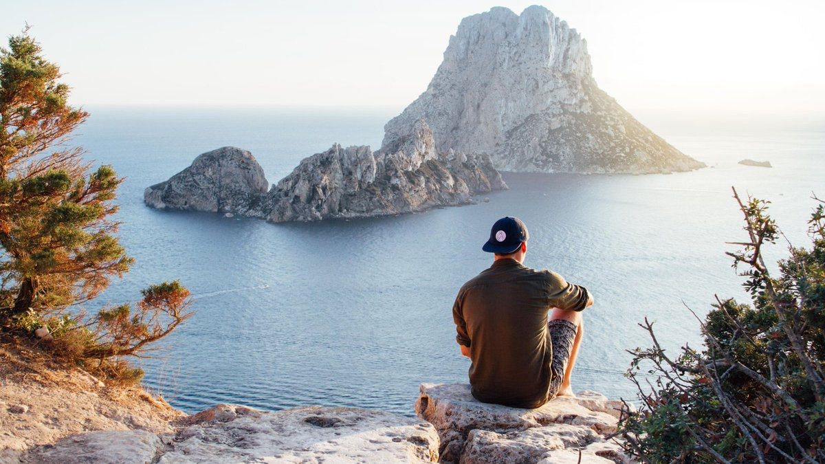 Es Vedra Ibiza – Magnetic Island  The island is located about 2.5 kilometers off the coast near Cala d'Hort. From the beach you have a beautiful view #travel #travelphotography #TravelDiaries #travelblogger #traveling #TravelTips #traveltheworld