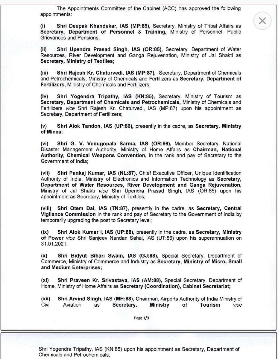 #BreakingNews  Shri Arvind Singh has been appointed as Secretary, Ministry of Tourism, Government of India   #travel #tourism #india   @tourismgoi @js_tourism @TAAI1951 @TourismFaith @iato_india @Official_IATO @info_icpb @TAFI_TWEETS @OTOAI_India @HAI_India @FhraiO