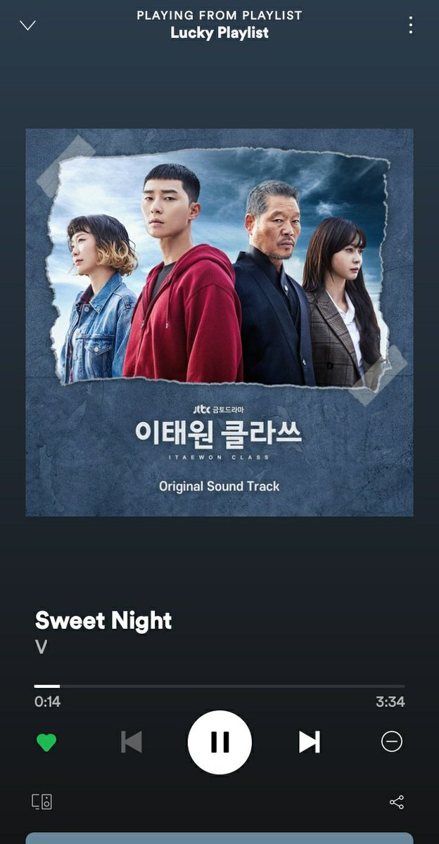 Playing this beautiful song. 100M Here we come.  Congrats Kim Taehyung  Congratulations Taehyung  #SweetNightBestOST #SweetNight_BestOST상_축하해