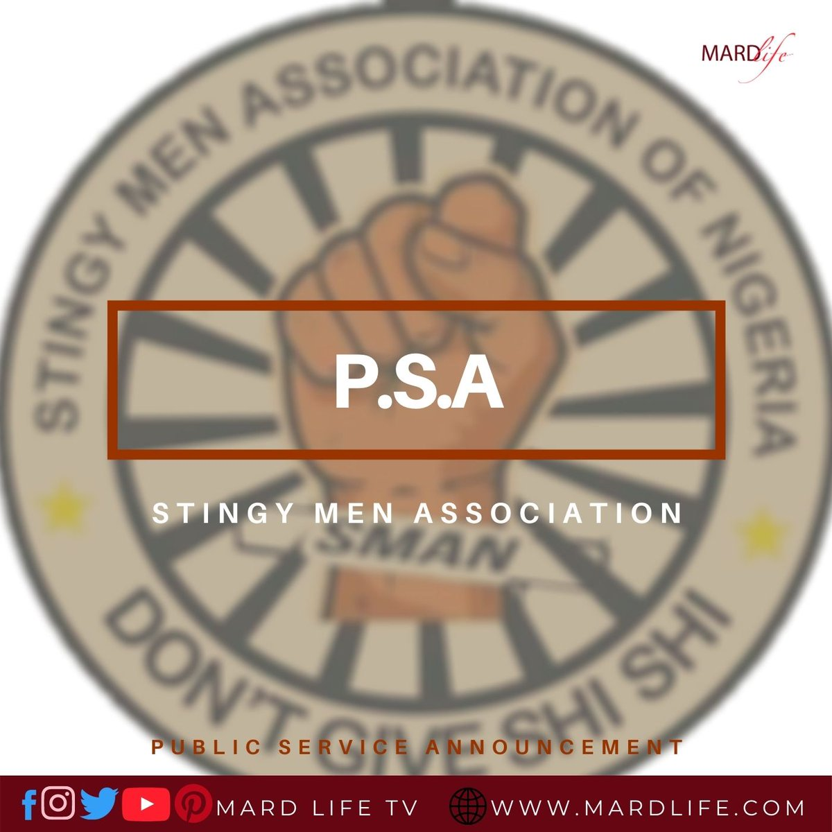 PSA: Stingy Men Association This is a public service announcement from the most honourable congregation of men, the stingy men association. https://t.co/03SuvfyKXn