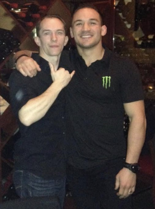 It's fight day!! Can't wait for my dude @MikeChandlerMMA to destroy in his @ufc debut! Let's go Iron
