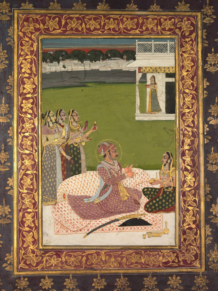 Word 'Ban Than' which mean 'Impeccably Dressed' is derived from #Kishangarh #Rajasthan's Raja Samant Singh's Queen Bani Thani (Monalisa of India), seen here in this ca. 1750 #Rajasthani painting by Nihal Chand, now @ClevelandArt. @ranjona @Peachtreespeaks @DalrympleWill @iamrana