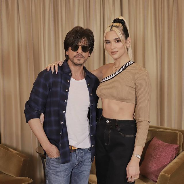 When #ShahRukhKhan and #DuaLipa posed for an epic picture.