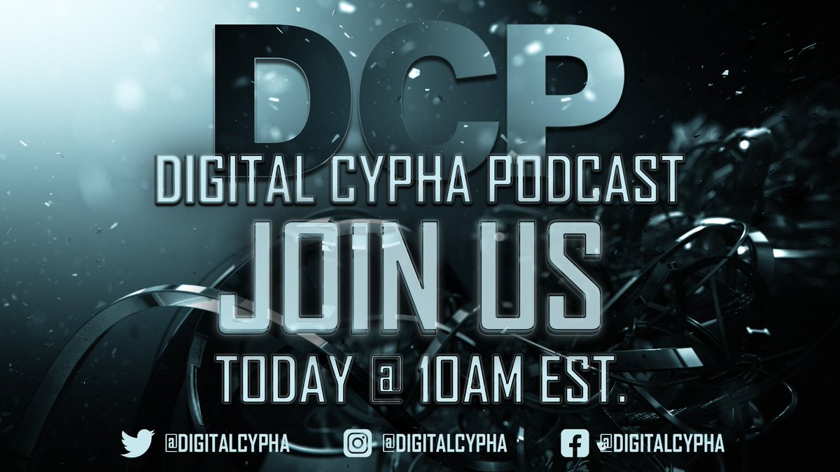 The @DigitalCypha #Podcast will be #live in 30 minutes on Youtube! There's a lot to talk about this week, be sure to tune in! #Creator #Livestream #youtube #gaming  Link:
