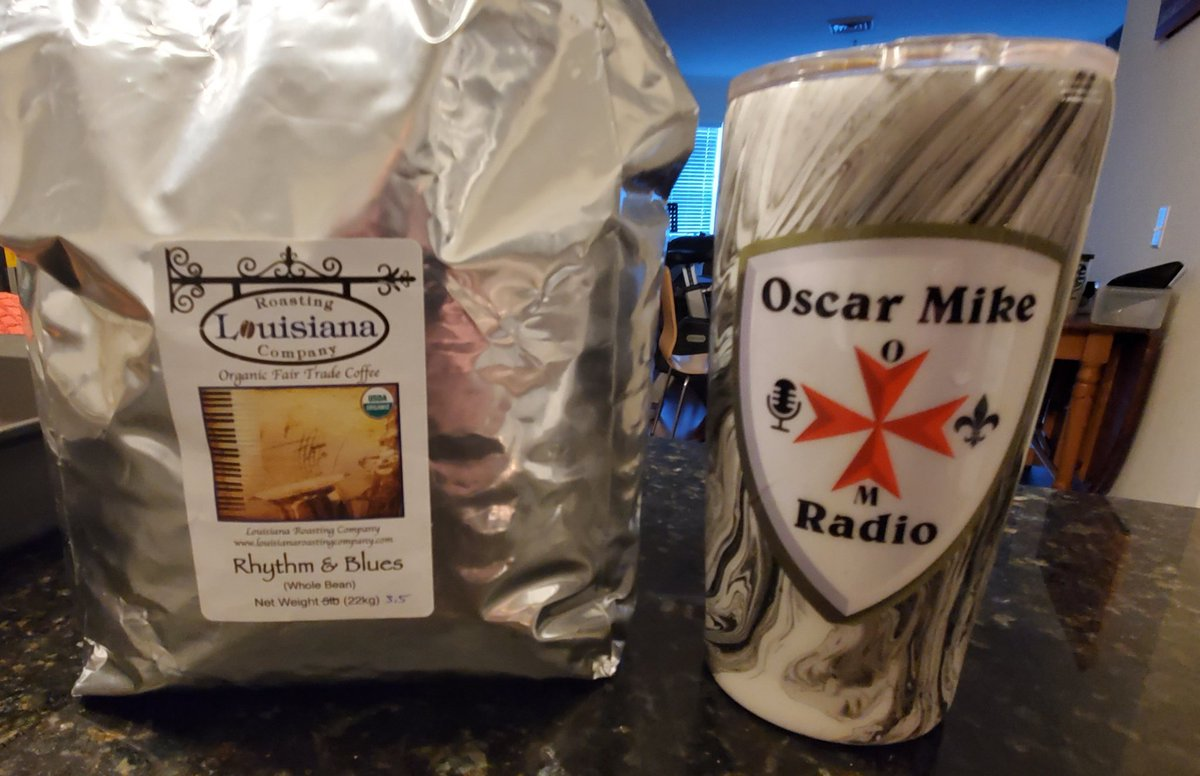 Thanks to my bro Anthony for the Louisiana Roasting Company coffee! The Rhythm & Blues Roast is smooth and a great way to start the day!  Thanks for the coffee Anthony!  #coffee #louisiana  #louisianaroastingcompany  #2sistersarts  #podcast #oscarmikeradio