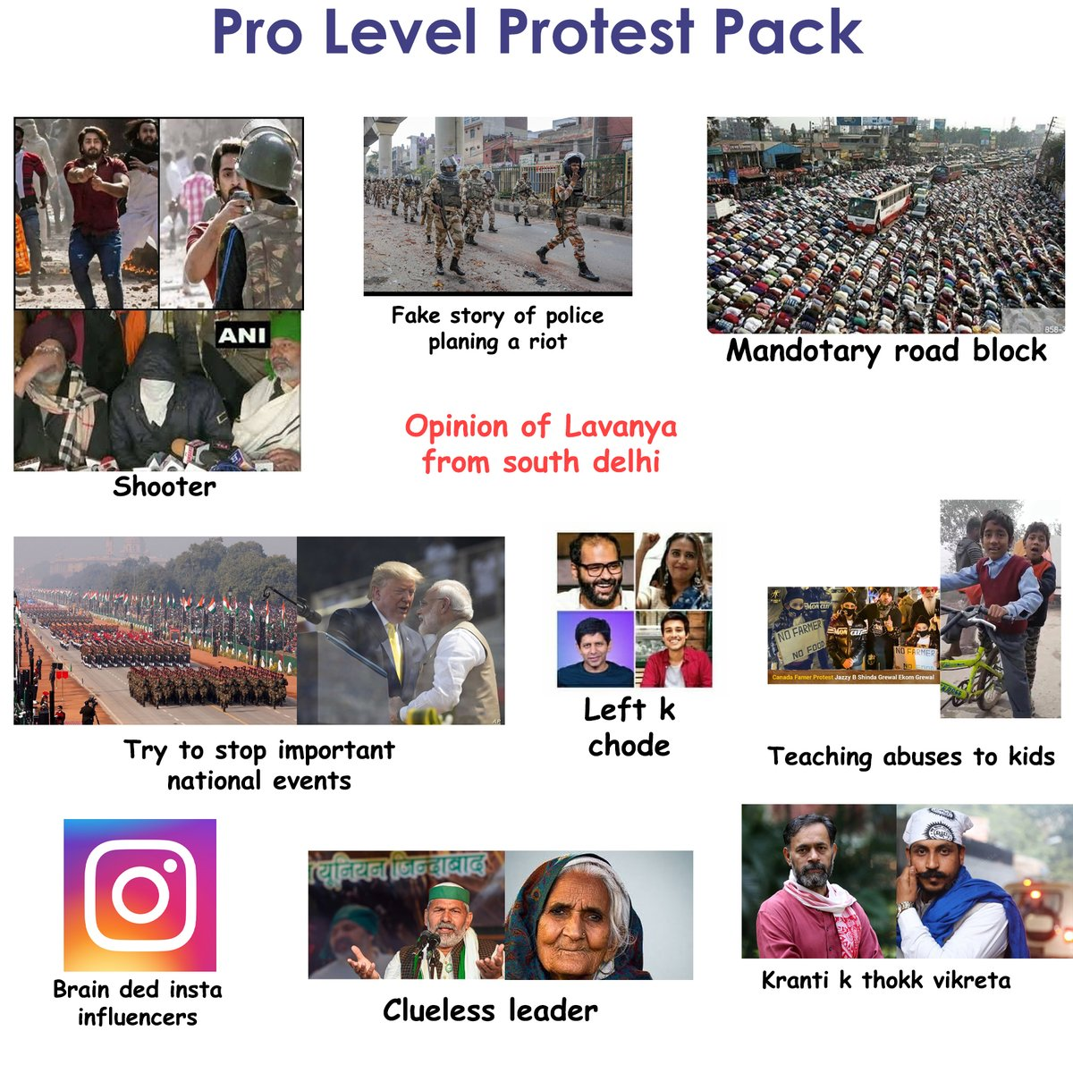 Replying to @thephukdi: updated protest pack