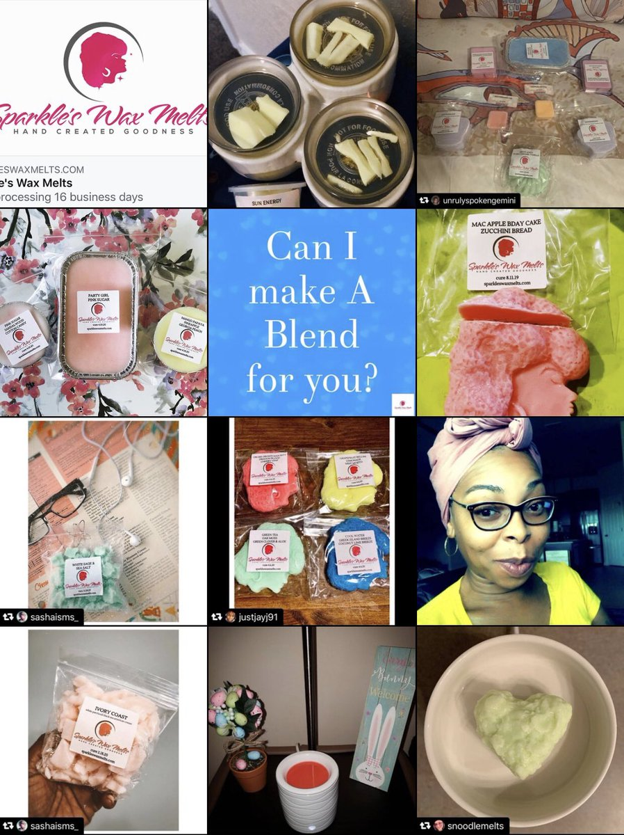 come support a handmade Black Owned Business today! I'm sure you  an find a scent for you! #sparkleswaxmelts #SmallBusiness #BlackOwnedBusiness #candle #waxmelts #handmade