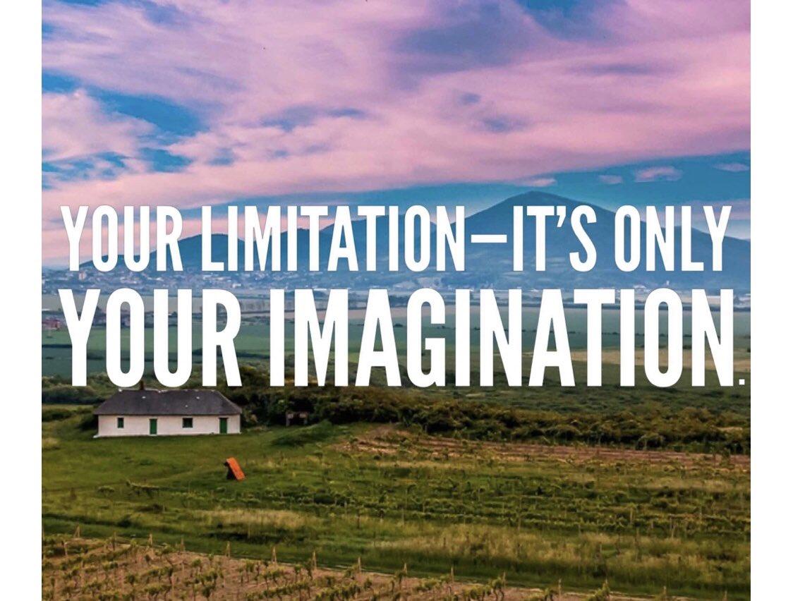 Your limitation- it's only your imagination.   #picoftheday    #SaturdayMorning    #SaturdayVibes    #SaturdayThoughts    #BeHappy    #BeKind    #gratitude    #grateful