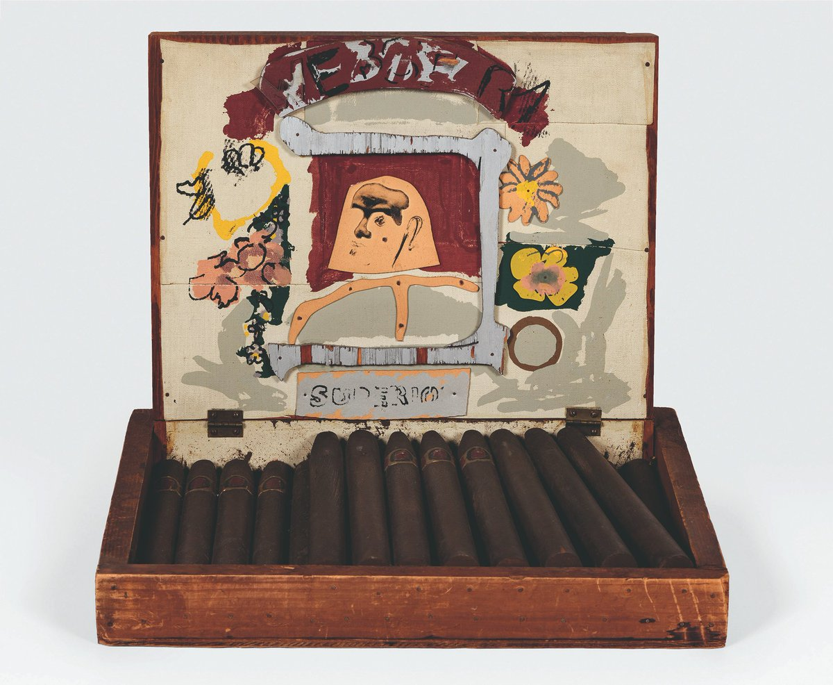 """#EditionsExplained: """"Larry Rivers, pursuing his love of everyday objects, made a classic cigar box. But fabricating the box was extremely laborious, as he sought to precisely replicate the box and its contents using a range of different materials,"""" writes curator Dieter Schwarz. https://t.co/tFHxDhShTu"""