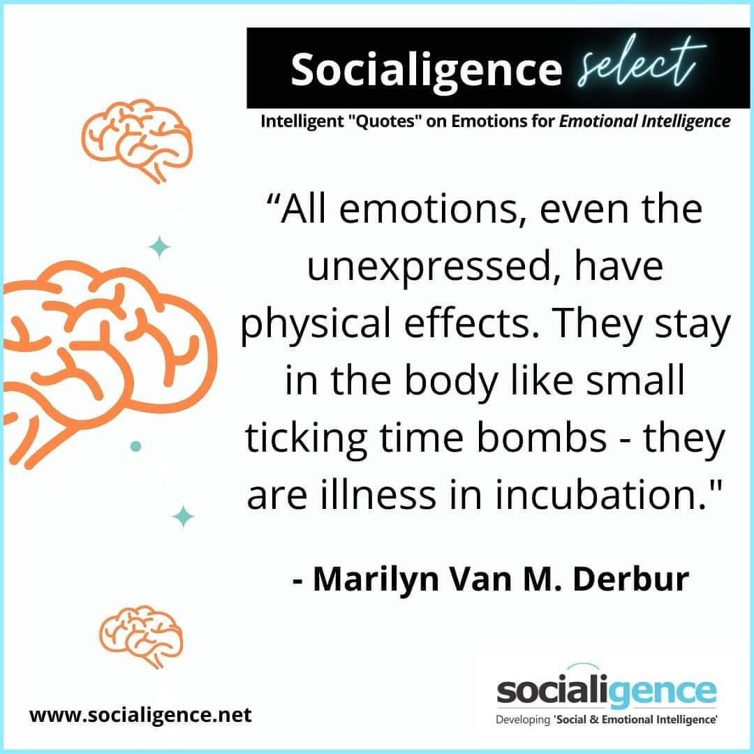 It's our endeavor to help you develop the skill of 'Emotional & Social Intelligence'. Here's 'Socialigence Select' - a great quote on emotions for you to deliberate on. #quoteoftheday #greatquotes #emotionalintelligence #socialintelligence #psychology #neuroscience #thursdayvibes