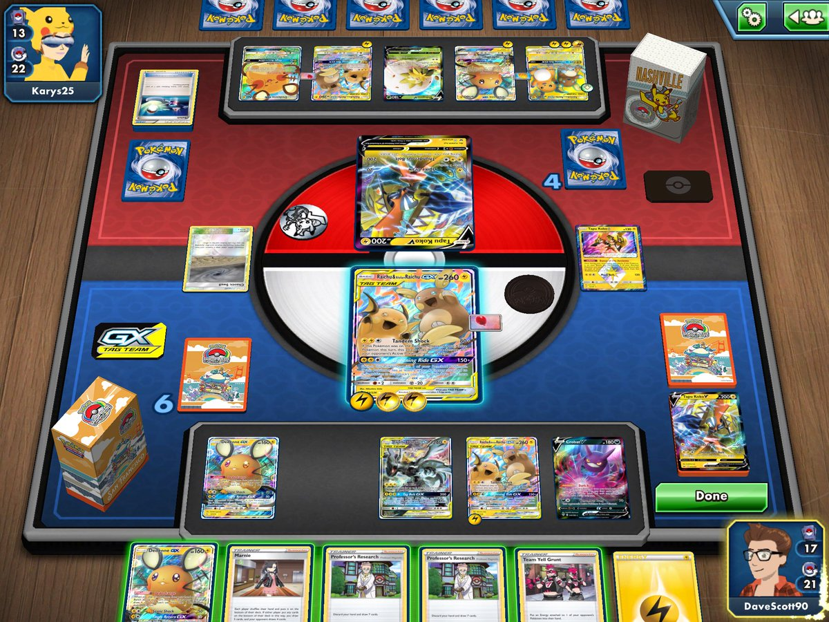 POKEMON 🎲 | Round one of this week's friendly PTCGO event saw Phoebe (using Dave's account) taking on her teammate and sister, Karys, in a PikaRom/Chu mirror! The match went the distance, with Phoebe taking the win in a very close third game! 🏆🥳 #PlayPokemon #PokemonTCG