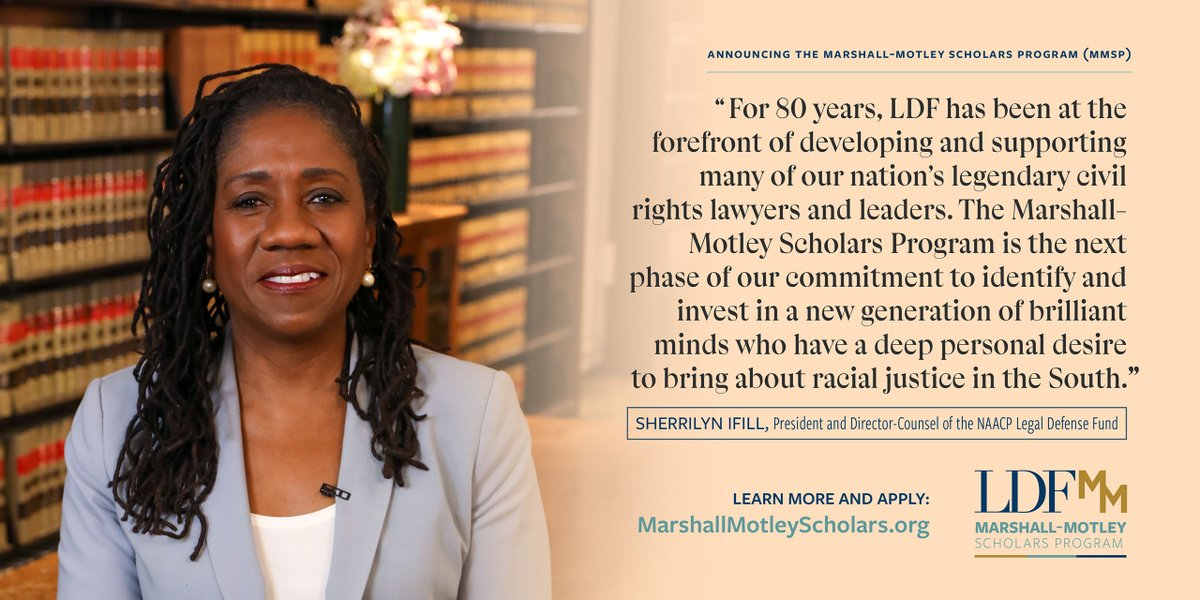 LDF's new #MarshallMotleyScholars Program will seed the South with 50 new civil rights attorneys over the next five years. You can be one of them. Learn more and apply at .
