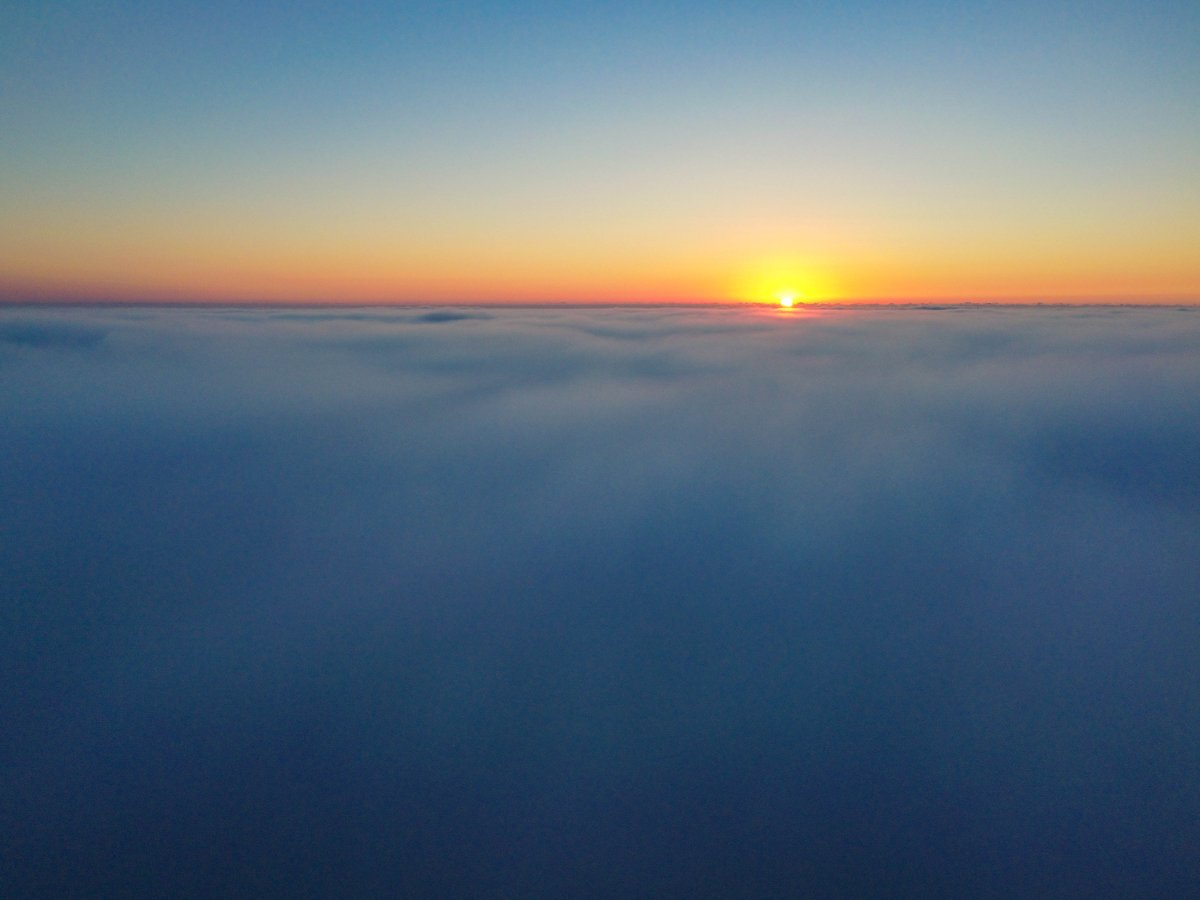 Here is a video from today. A very foggy morning sunrise.   #DroneVideo #foggy #sunrise #SaturdayMorning #SaturdayMotivation