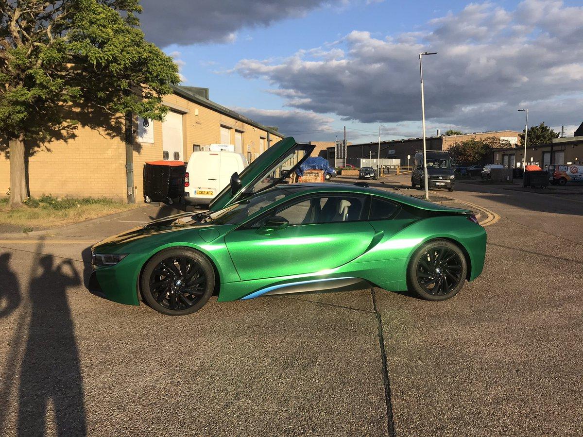 BMW i8  wrapped in Avery supreme Radioactive Green metallic @wrappingcars #carwrapping #bmw  #i8 #green #radioactive #carwrap #london #uk #bmwi8