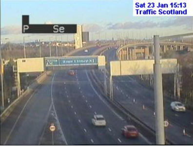 test Twitter Media - NEW❗️ ⌚️15:22  Traffic coping well in the West this afternoon with the sun shining now😎  Here are some images from our cameras on the #M8, #M77,#M74 and #M80   Do bear in mind the @metoffice have issued a YELLOW warning for SNOW and ICE❄️  #DriveSafe #TakeCare https://t.co/LKyKvgwjwC