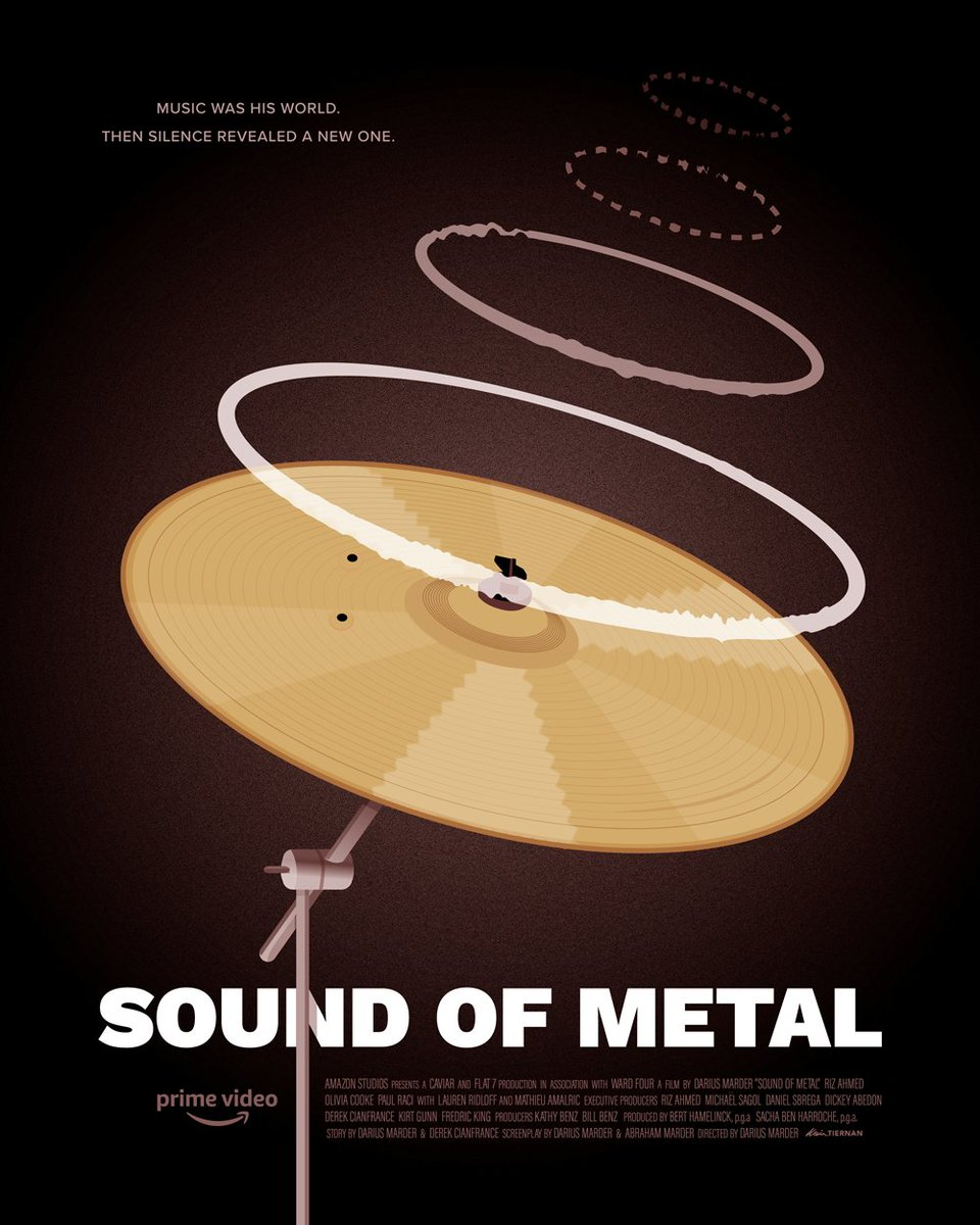 Here's a quick poster for #SoundOfMetal, one of my favorite films in recent memory 🥁