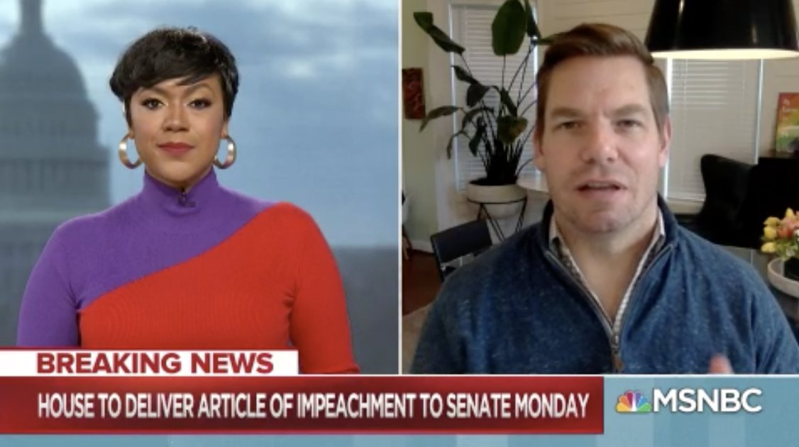 .@RepSwalwell: The person who led these terrorists to their chamber was #Trump... He lit the matches as Liz Cheney said that led to the attack. This for many [GOP senators] will be the last chance to pass judgement and hold #DonaldTrump accountable. #CrossTalk